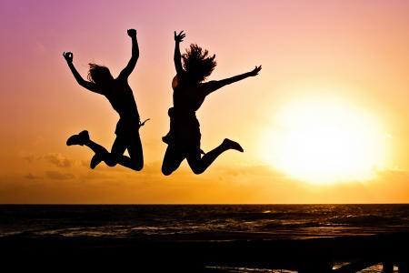 喜悦,心情,海滩,日落,幸福,庆祝活动,高清,4 k