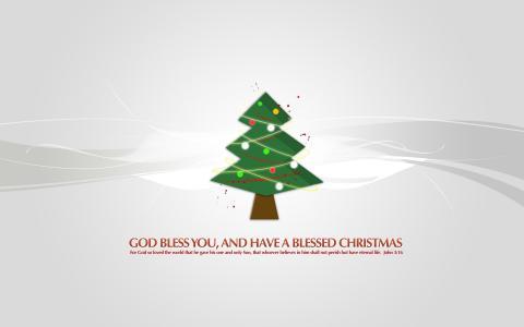 圣诞树上帝保佑你
