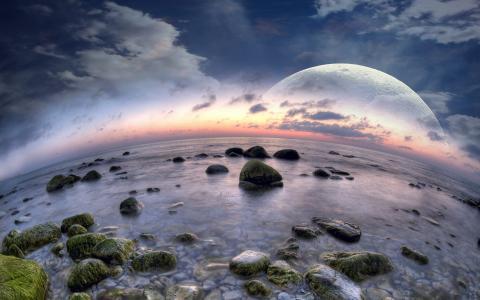 鱼眼海滩梦幻般的世界