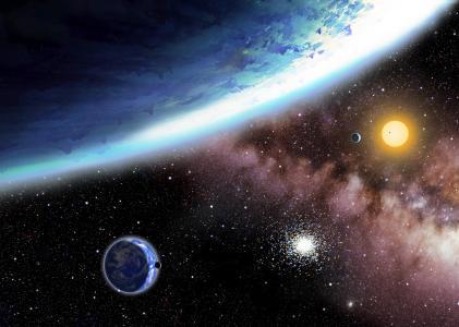 星球,星星,星系,4k(水平)