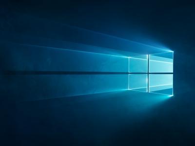 Windows 10,Windows徽标,蓝色,高清