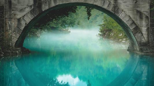 在桥下,水,高清,4K