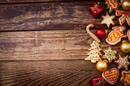 圣诞节,新年,饼干,5k(水平)