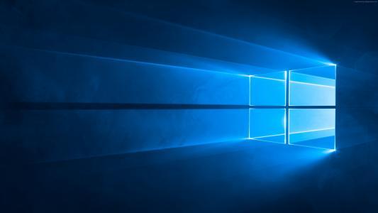 Windows 10,4k,5k壁纸,微软,蓝色(水平)
