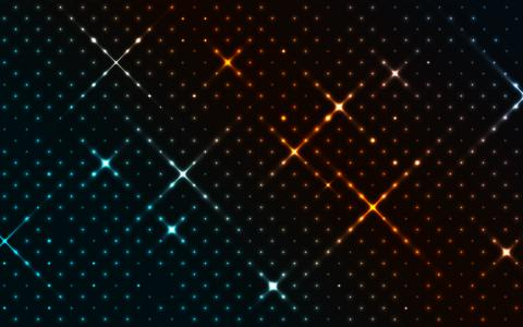 摘要,华美,明星,图案,圆点,4 k
