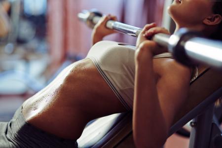 女孩,健身,运动,健身房,哑铃,锻炼,运动服,动机(水平)
