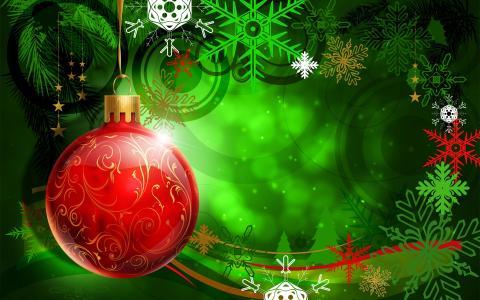 多彩圣诞装饰