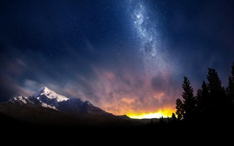 瑞士的夜空