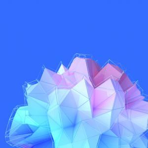 三角形,几何,蓝色,HTC U11 Plus,股票,高清