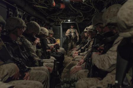 士兵,美国海军登陆,部队,飞机登陆部队(横向)