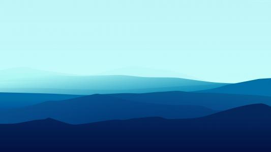 风景,平,4k,5k,雾,iphone壁纸,森林,蓝色(水平)