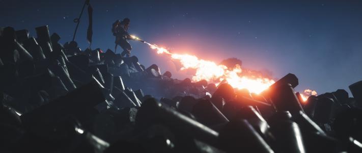 火焰喷射器,火焰骑兵,战地1,4K,8K