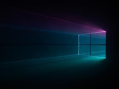 Windows 10,Windows徽标,多色,HD