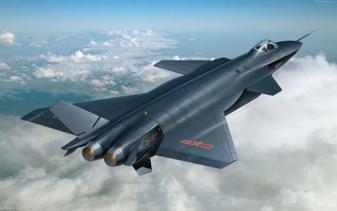 沉阳J-20,中国军队,战斗机,空军,中国(横向)