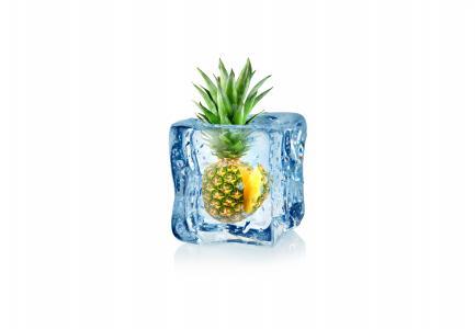 菠萝,水果,冰,5K(水平)