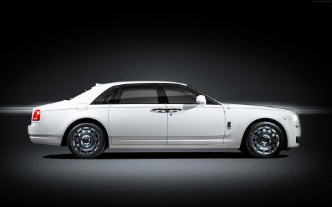"""劳斯莱斯鬼魂""""永恒的爱"""",豪华轿车,白色(横向)"""