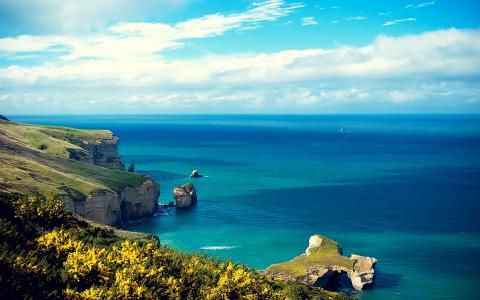 岛沿海悬崖