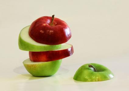 切片苹果创意摄影