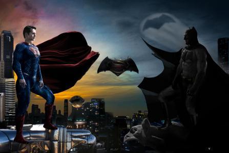 超人,蝙蝠侠,高清,5K