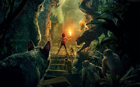 丛林书,最佳电影,Mowgli,Bagheera(横向)