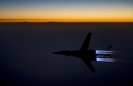 B-1,蓝瑟,超音速,战略轰炸机,罗克韦尔,美国空军,波音,日落(水平)