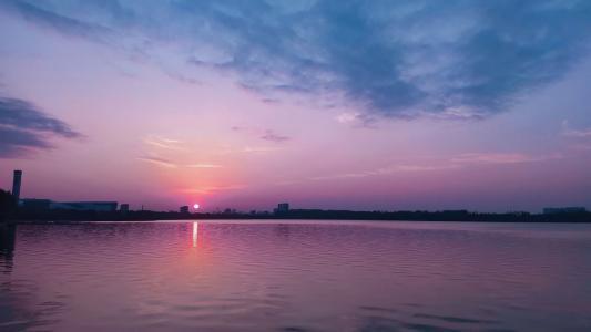 浪漫唯美的落日景色