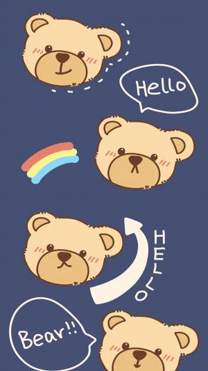 卡通小熊带字配图