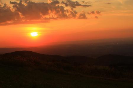 日落晚霞唯美景象