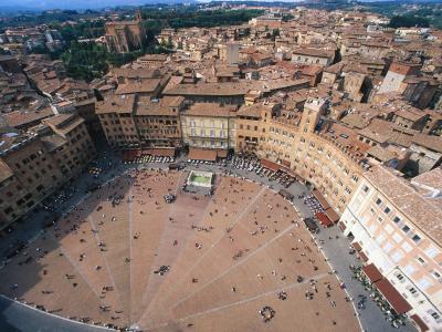 Piazza del Campo意大利鸟瞰图