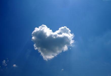爱的形象,心,云,4k(水平)