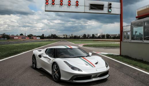 法拉利458 MM Speciale,跑车,白色(水平)