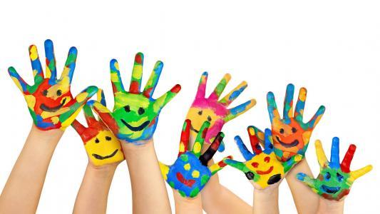 表情符号,手,色彩缤纷,高清