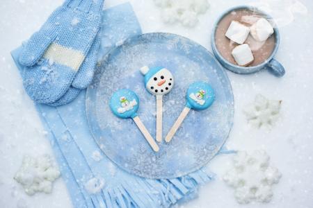 雪,冬天,糖果,巧克力,饮料,4k(水平)
