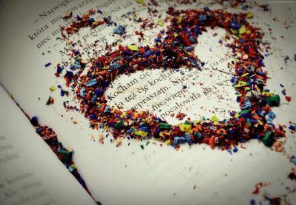 爱的形象,心,高清,书(水平)