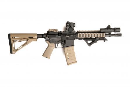AR-15,M-16,红色视线,美国陆军,海军陆战队(水平)