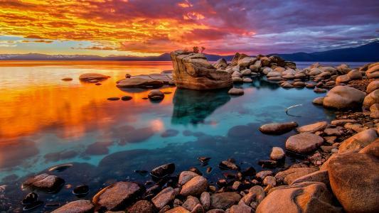 唯美迷人的黄昏美景