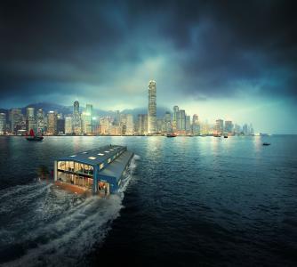 香港,都市风景,4K