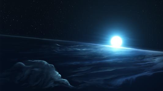 满月,明亮,高清