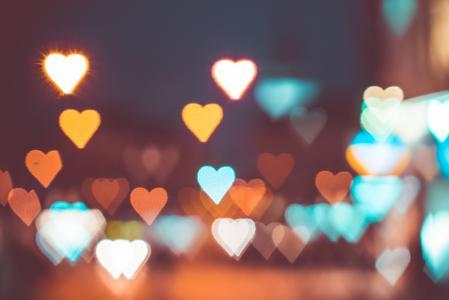 唯美迷人的爱心炫光