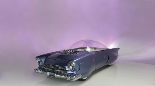 """福特""""Beatnik""""Bubbletop自定义,1955年,改造,未来,蓝色(水平)"""