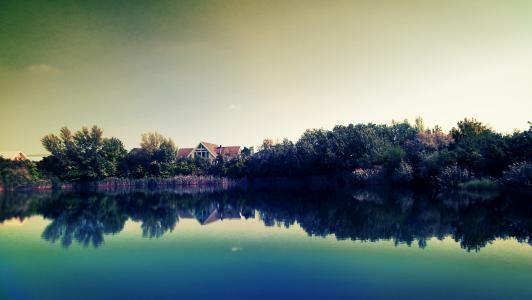 湖的几点思考,湖度假村,4K