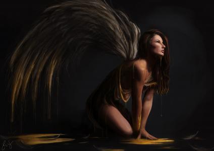 幻想女人,天使,5K