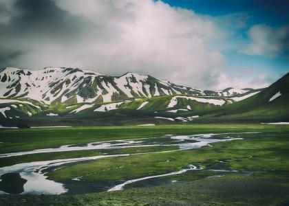 冰岛,山,雪,4K,8K
