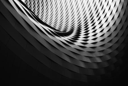 建筑学,3D,黑暗,4K