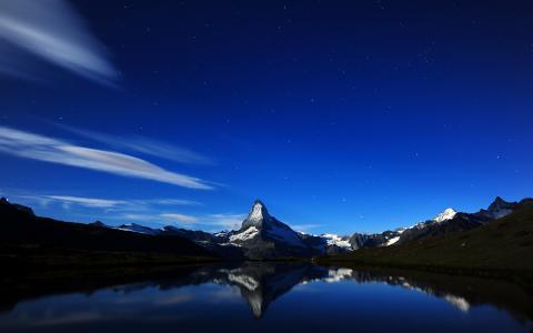 马特,阿尔卑斯山,瑞士,高清