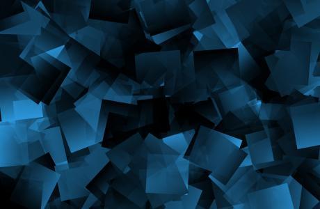 形状,正方形,蓝色,4K