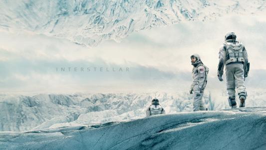 星际,电影,马修mcconaughey,太空服,雪,冬天,白,天空(水平)
