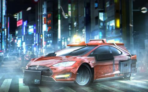 特斯拉模型S Deckards轿车