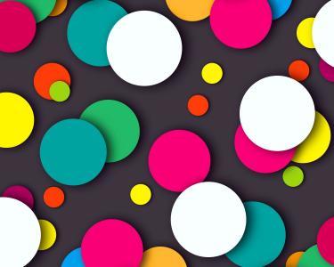 多彩的点,多色,高清