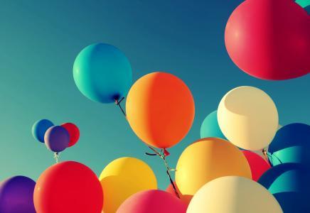 气球,五颜六色,HD